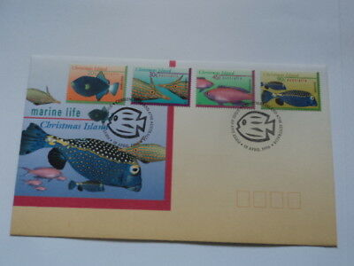 Christmas island FDC first day cover 1996 Marine Life