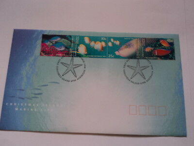 Christmas island FDC first day cover 1998 Marine Life 4V
