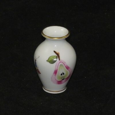 Herend of Hungary Miniature bud vase Market Garden insects & fruit