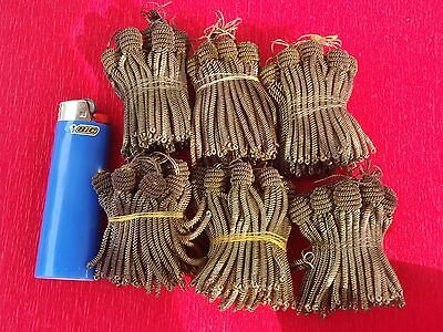 "Vintage Antique Gold Metallic Bullion 2"" Tassels,Trim, 1 Doz. NOS,French"