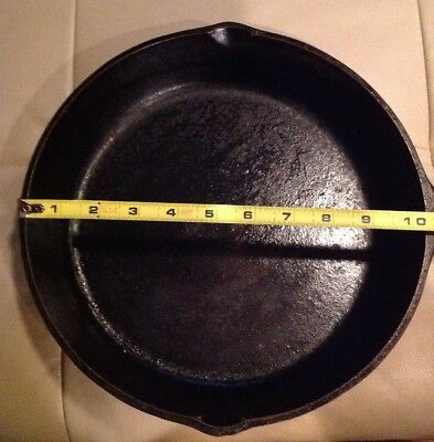 "Vintage 10.5"" CAST IRON SKILLET SK #8 Made in USA D1 Black 2"" deep pan With Ring"