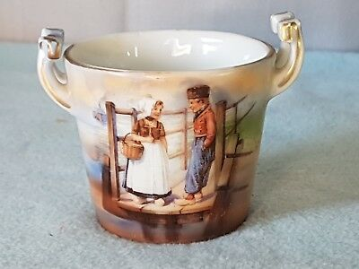 Antique Royal Bayreuth 1794 Bavaria Painted Cup Depicting Children's Friendship.