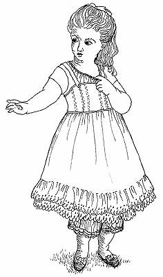 """1854 Undergarments Sewing Pattern Fits 18"""" American Girl Doll #55"""