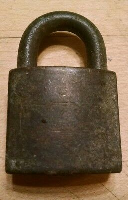 VINTAGE Antique Old Eagle Brass Lock Padlock no Key