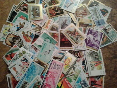Collection lot 100+ different stamps of Rwanda