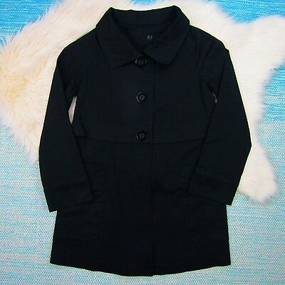 Hatch Maternity Black Jacket Small Pea Coat Collar Trench Spring Fall Button