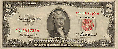 1953-A $2 US Note Red Seal,  High Grade Note  (Z-44)
