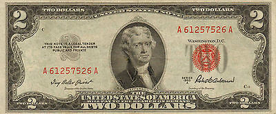 1953-A $2 US Note Red Seal High Grade Note  (Z-75)