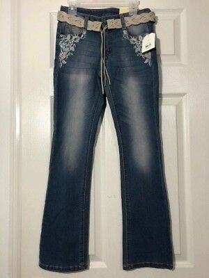 Faded Embroidery Glory Jeans For Girls Size 10