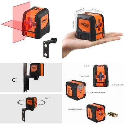 Cross Line Laser Level 15M Self Leveling Red Laser Line Clamp Holder Magnetic Uk