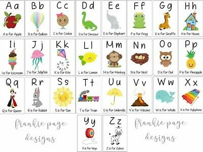 Adorable ABC Flash Cards - Pack of 26 - Perfect Gift