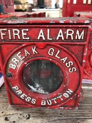Old MFB break glass alarm used with MFB shutter alarms