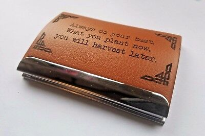 Personalised laser engraved business/credit card holder, PU leather