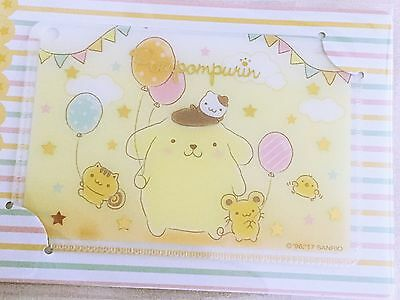 Pompompurin Sanrio Yellow Card Case Wallet Pouch Made in Japan