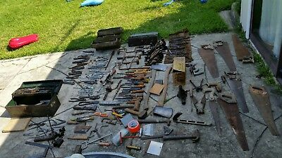 Old vintage Carpentry, Machinist, Mechanic and plumbing tools