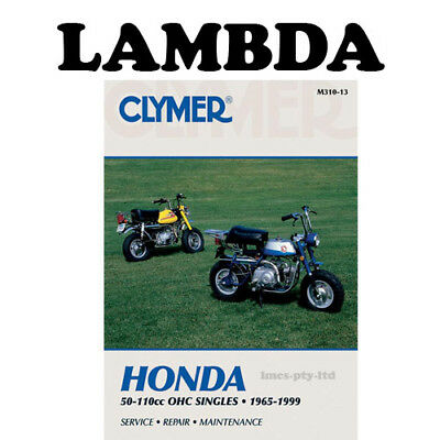 Manual Book by Clymer for Honda S65 C70 CL70 CT70 SL70 XL70 Models