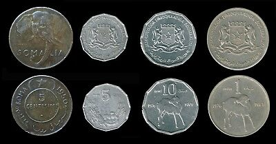 SOMALIA:- 4 different, Republic pre & post independence coins. AP6526