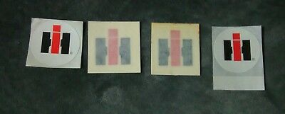 FOUR OLD VINTAGE IH INTERNATIONAL HARVESTER STICKERS FROM THE 1960's and 1970's!