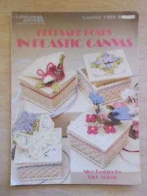 Keepsake Boxes In Plastic Canvas~LA 1189~9 Projects~1989~6pp