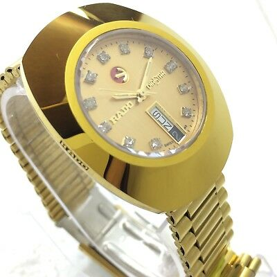 Vintage Men's Rado Diastar 35Mm Automatic Day Date Swiss Made Wrist Watch M2705