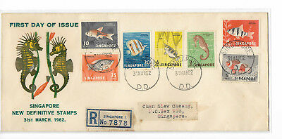 Singapore 1962 Fish private FDC postally sent