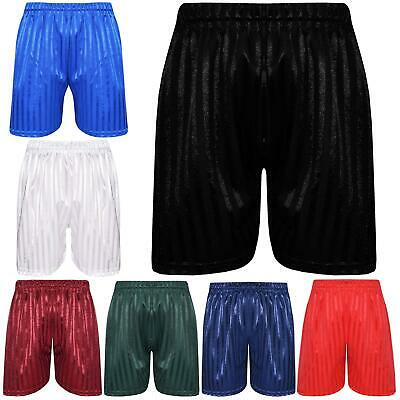 Shadow Stripe PE Shorts Boys Girls Sports Football Gym School Short 2-13 Years