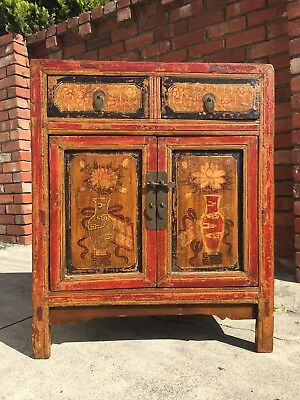 Antique Tibetan Chinese Cabinet Buffet Sideboard Hall Stand