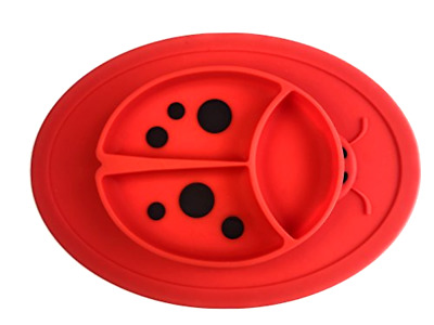 Mini Placemat for Toddlers Babies Kids LadyBird Design Silicone Feeding Mat