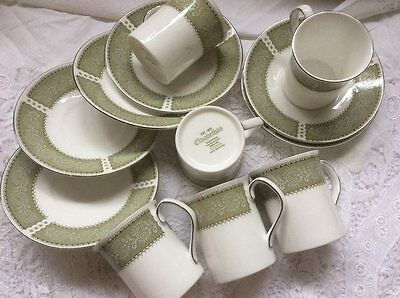 Elizabethan Staffordshire Bone China Cup And Saucers