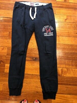 Navy Superdry Tracksuit Pants