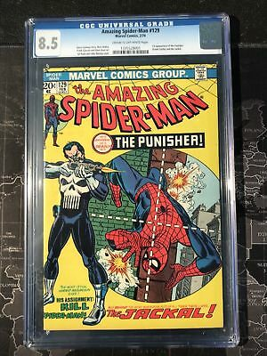 Marvel COMICS CGC 8.5 VFN+ 129 1st punisher appearance Spiderman amazing 1974