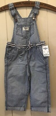 Osh Kosh Striped Overalls - New With Tags - Size 2T