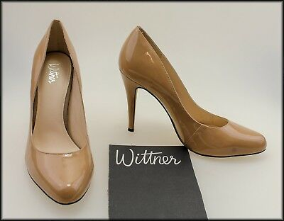 Wittner Women's Patent Leather Classic Dress Heels Shoes Size 8.5 Aust 40 Eur