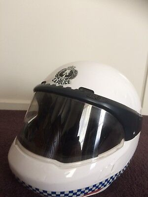 OBSOLETE- VINTAGE 1990's SOUTH AUSTRALIA POLICE MOTORCYCLE HELMET BMW SYSTEMS 3