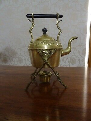 Antique Spirit Kettle - Brass - Soutter And Sons