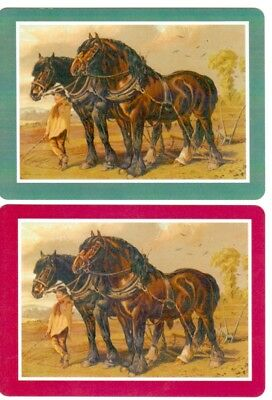 Playing cards swap cards horses modern Wide