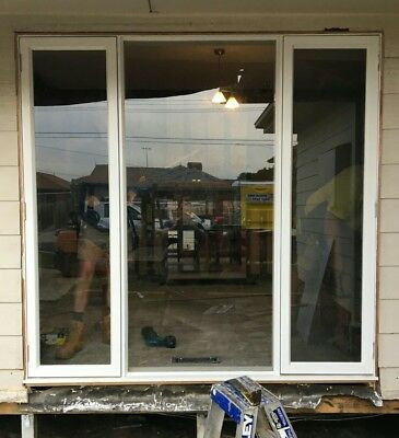 Casement windows - 2150w x 2070h x 140d with flyscreen