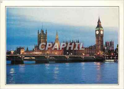 CPM London Beyond Westminster Bridge the Houses Parliament Victoria Tower and Bi