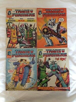 TRANSFORMERS BRITISH WEEKLY Nos 117, 118, 119, 120 MARVEL UK COMIC 1987