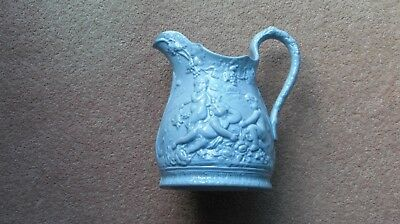 "7"" Dia (Over Spout And Handle) X 7.5"" Tall Ynysmeudwy Jug  With Molded  Cheribs"