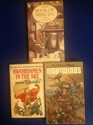 3 Books by Donald A. Wollheim, Karl Edward Wagner and T.H. White