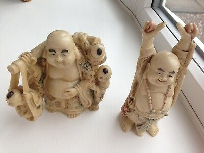 2 Chinese Resin Figures of a high quality, both in excellent condition.
