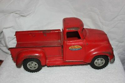 Vintage 1960's Tonka Step Side Red Pick Up Truck