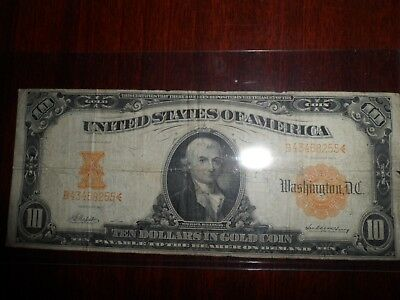 US Currency Gold Certificate, $10 Ten Dollars in Gold Coin, 1907 B43468255