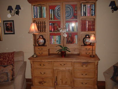 Early 19th Century Antique Pitch Pine Dresser