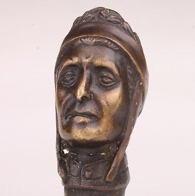 Walking Stick Cane Bronze Dante Statue Handle Collectable