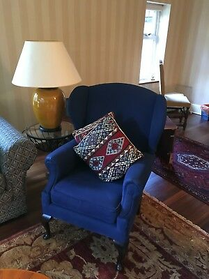 Two Queen Anne style armchairs