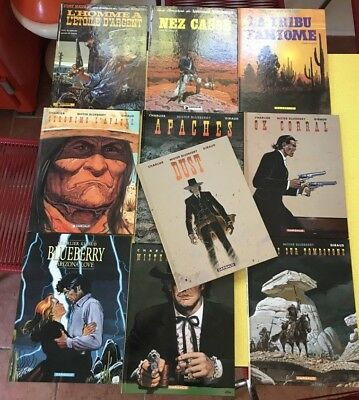 Lot 10 Albums Mister , Lieutenant , Blueberry Charlier-Giraud