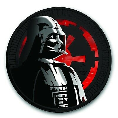 GLOW IN THE DARK Star Wars Darth Vader Ruthenium plated, Colorized Silver Coin