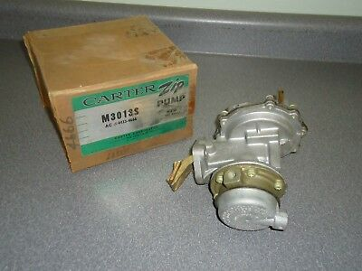New NOS Carter Fuel Pump M3013S Dual Action Vacuum 1958-1962 Chevy GMC 235 261